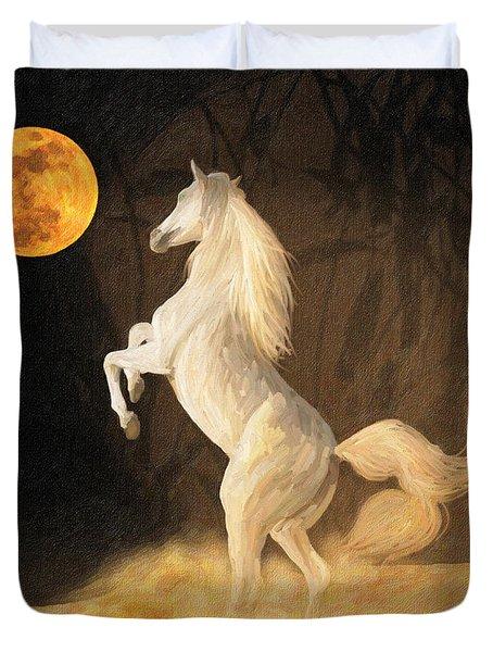 Super Moonstruck Duvet Cover by Angela A Stanton