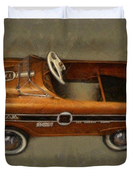 Super Sport Pedal Car Duvet Cover