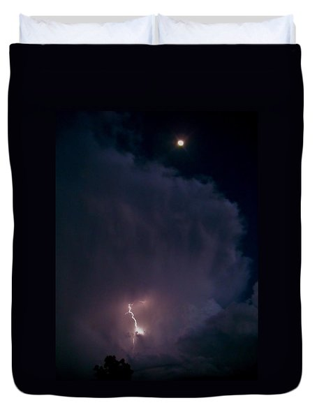 Supercell Moon Duvet Cover