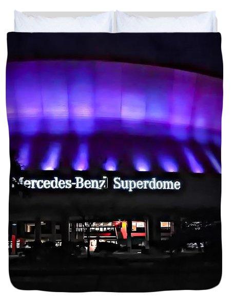 Superdome Night Duvet Cover by Steve Harrington