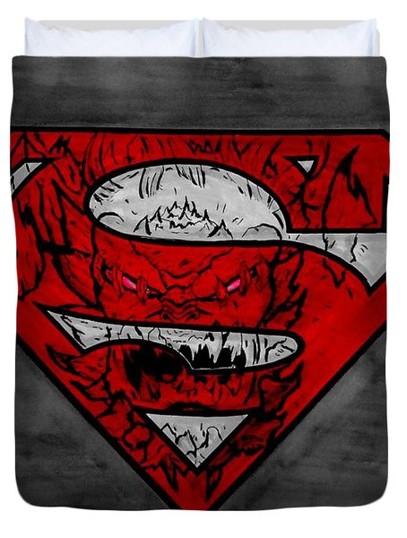 Superman And Doomsday R G Duvet Cover