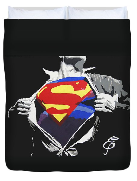 Superman Duvet Cover by Erik Pinto