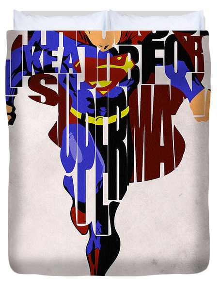 Superman - Man Of Steel Duvet Cover