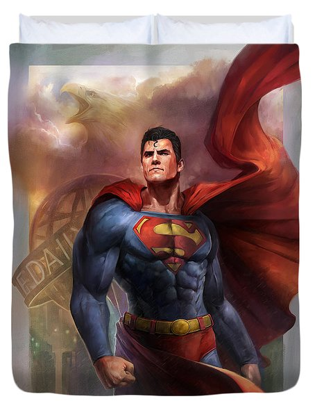 Man Of Steel Duvet Cover