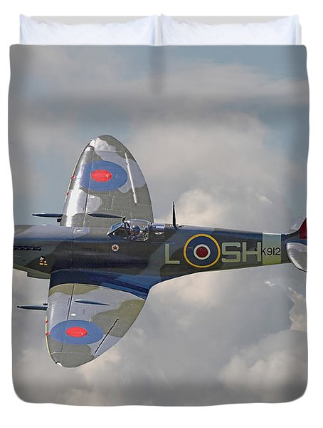 Supermarine Spitfire Duvet Cover by Pat Speirs