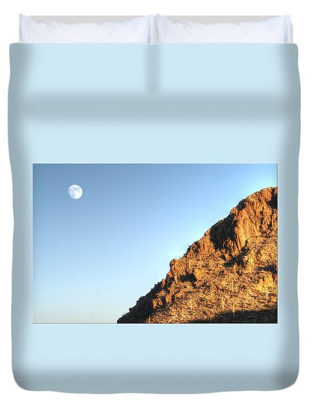 Superstition Mountain Duvet Cover by Lynn Geoffroy