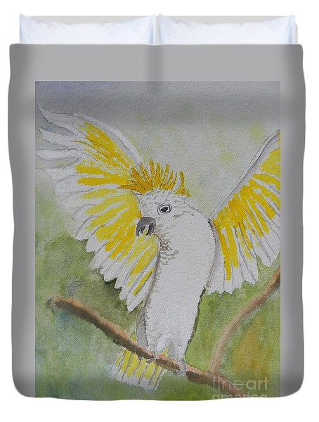 Suphar Crested Cockatoo Duvet Cover by Pamela  Meredith
