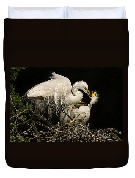 Suppertime Duvet Cover by Priscilla Burgers