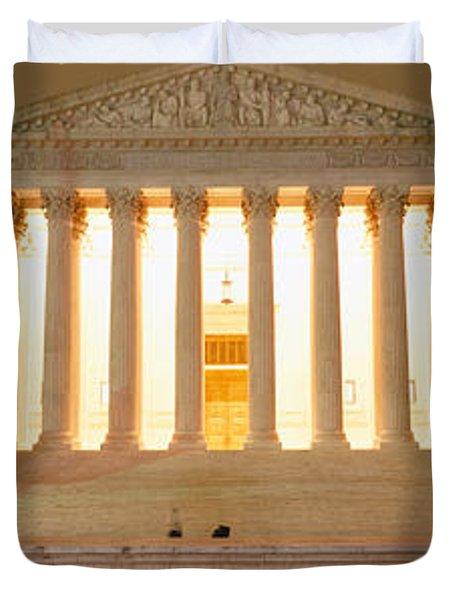 Supreme Court Building Illuminated Duvet Cover