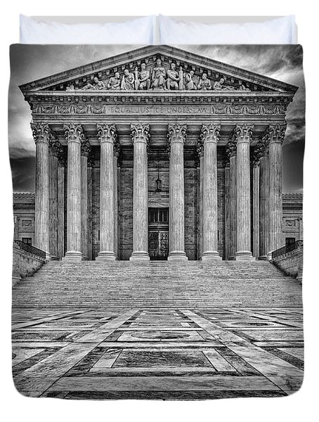 Duvet Cover featuring the photograph Supreme Court by Peter Lakomy