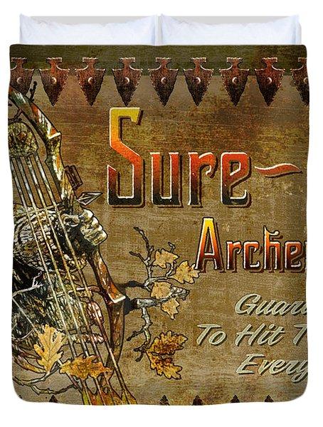 Sure Shot Archery Duvet Cover by JQ Licensing