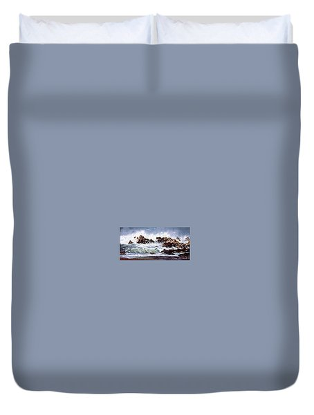 Surf At Lincoln City Duvet Cover