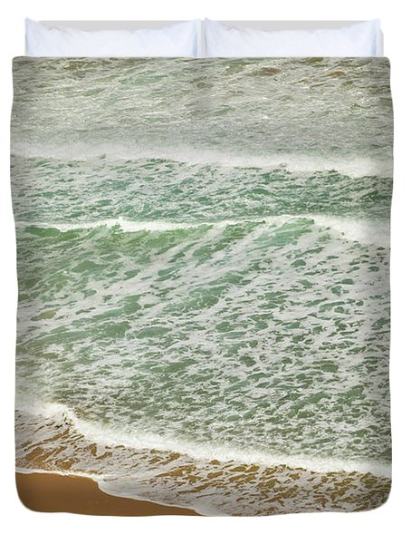 Surf On Beach Otway Natl Park Victoria Duvet Cover