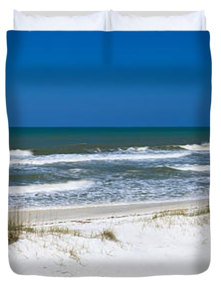 Surf On The Beach, St. Joseph Peninsula Duvet Cover by Panoramic Images