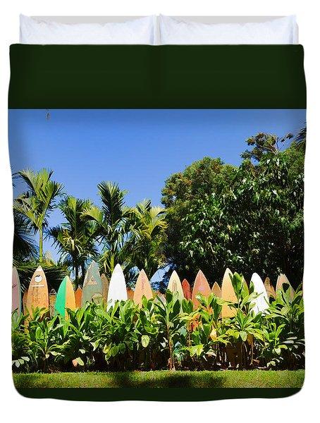 Surfboard Fence - Left Side Duvet Cover