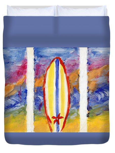 Surfboards 1 Duvet Cover by Jamie Frier