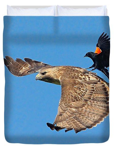 Surfer Bird  Duvet Cover