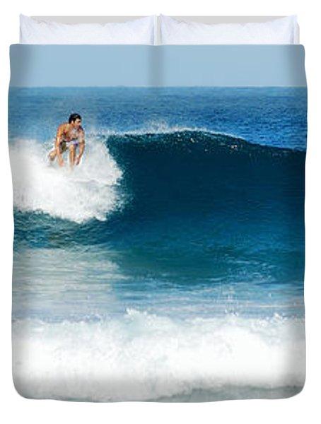 Surfer Dsc_1330 Duvet Cover by Michael Peychich