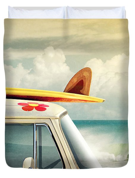 Surfing Way Of Life Duvet Cover by Carlos Caetano