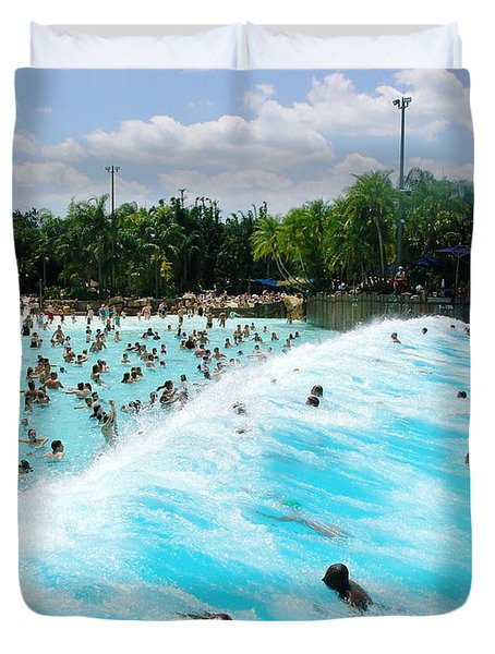 Duvet Cover featuring the photograph Surfs Up by David Nicholls