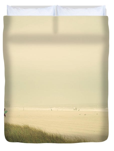 Surf's Up Seaside Park New Jersey Duvet Cover