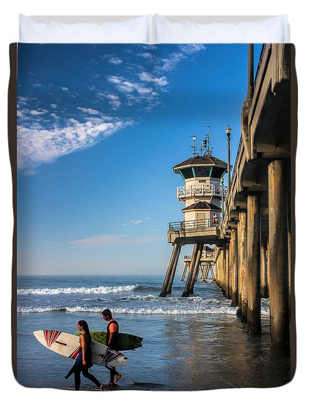 Surf's Up Duvet Cover by Tammy Espino