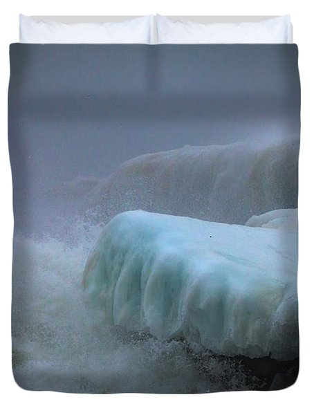 Surging Sea Duvet Cover by Mary Amerman