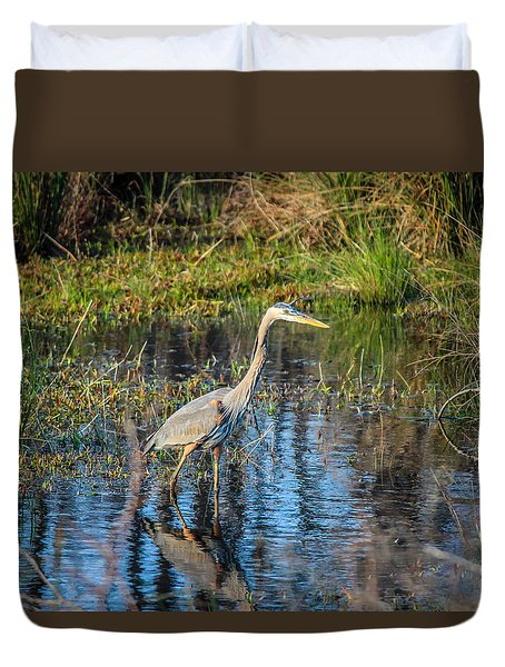 Surprise On The Trail Duvet Cover