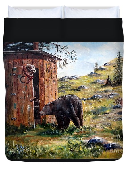 Surprise Visit Duvet Cover by Lee Piper