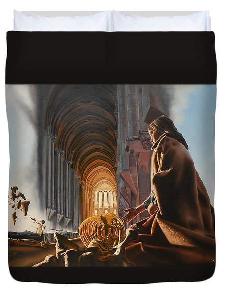Surreal Cathedral Duvet Cover by Dave Martsolf