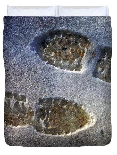 Surreal Footprints Duvet Cover