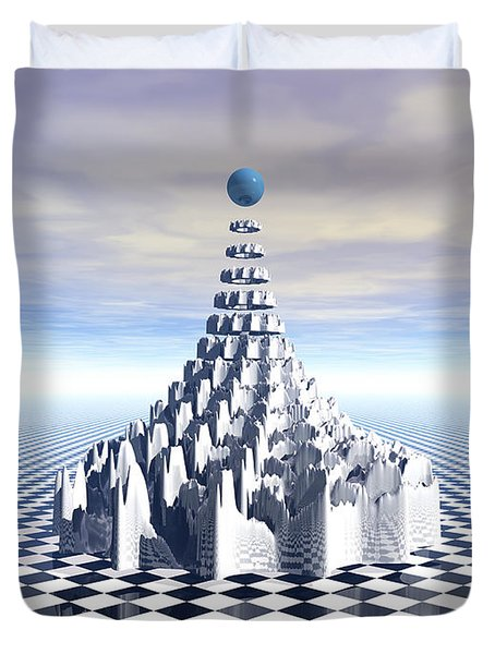 Surreal Fractal Tower Duvet Cover by Phil Perkins