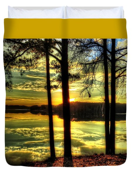Surreal Lake Duvet Cover
