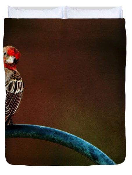 Surreal Purple Finch Duvet Cover