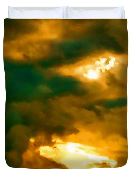 Surreal Sunset Duvet Cover by Anita Lewis