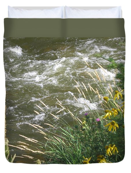 Duvet Cover featuring the photograph Surreal by Suzanne Theis