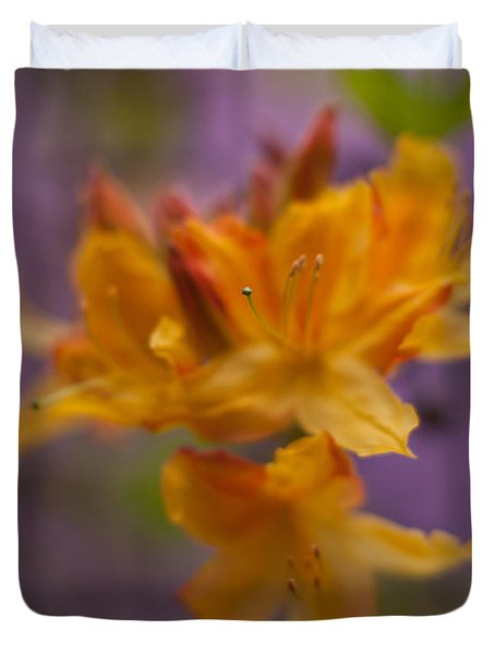 Surrealistic Blooms Duvet Cover by Mike Reid