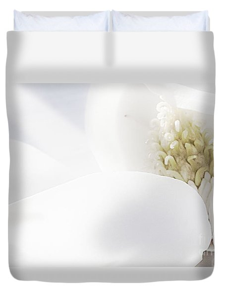 Duvet Cover featuring the photograph Surrender by Janie Johnson