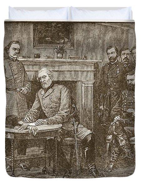 Surrender Of General Lee Duvet Cover