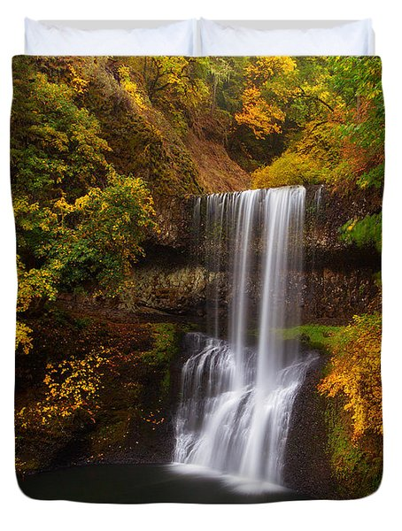 Surrounded By Fall Duvet Cover by Darren  White