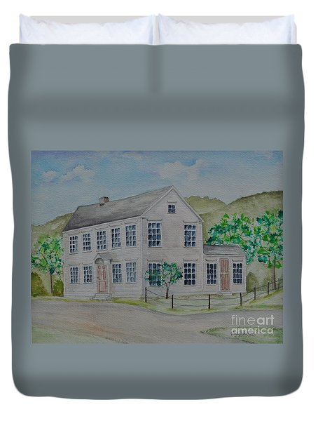 Susan B. Anthony Birthplace Duvet Cover by Sally Rice