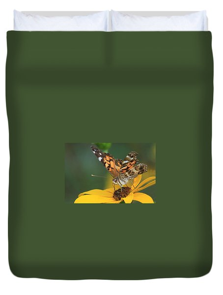 Susan Painted Lady Duvet Cover