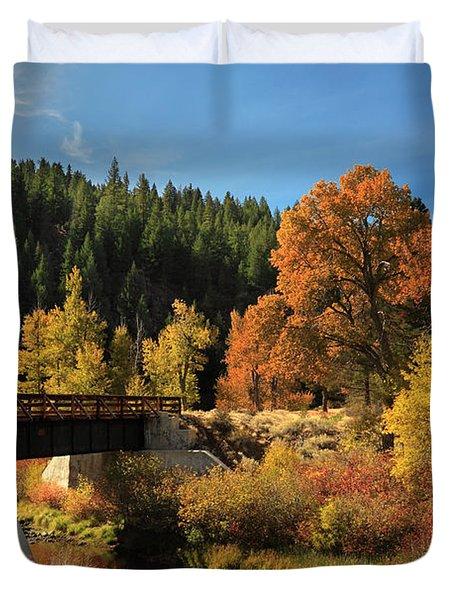 Susan River Bridge On The Bizz 2 Duvet Cover