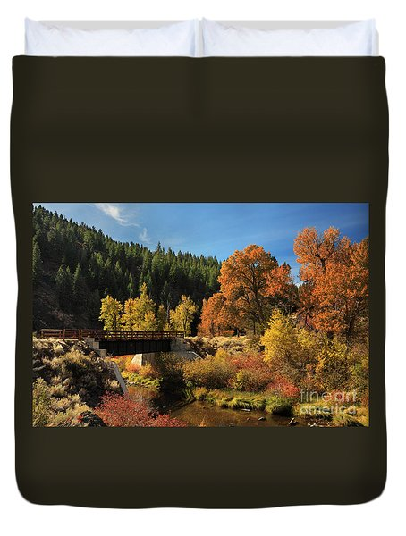 Susan River Bridge On The Bizz 2 Duvet Cover