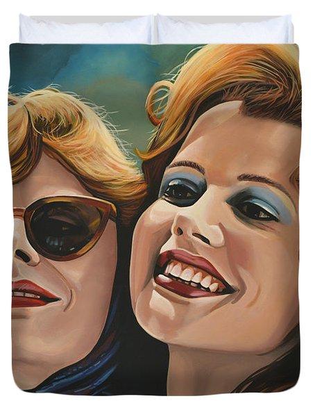Susan Sarandon And Geena Davies Alias Thelma And Louise Duvet Cover