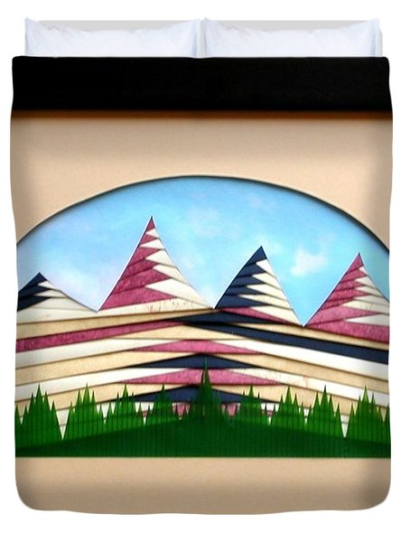 Duvet Cover featuring the mixed media Sushi by Ron Davidson