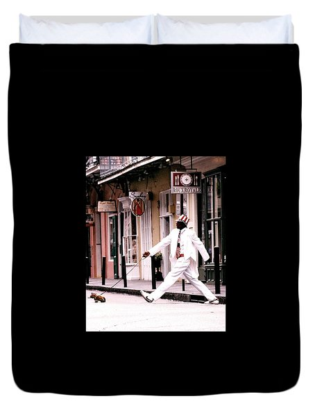 New Orleans Suspended Animation Of A Mime Duvet Cover
