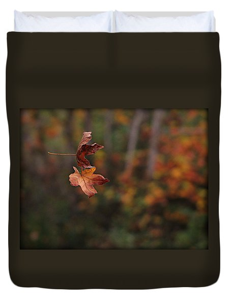 Duvet Cover featuring the photograph Suspended by Katie Wing Vigil