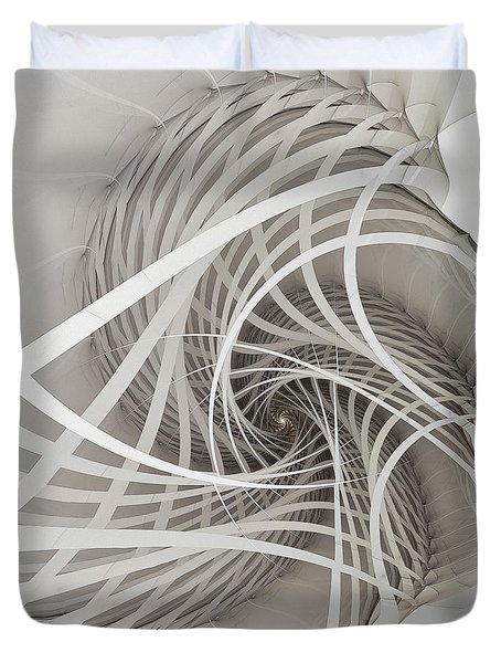 Suspension Bridge-fractal Art Duvet Cover