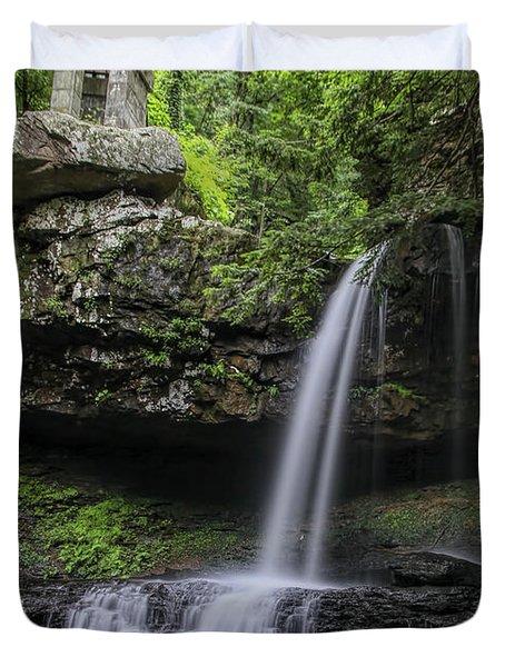 Suttons Gulch Waterfall Duvet Cover